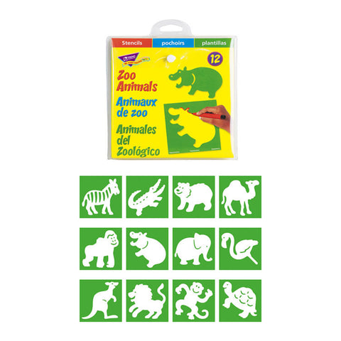STENCILS ZOO ANIMALS