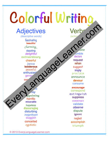 Colorful Writing Downloadable