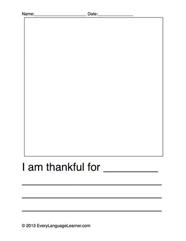 """I'm thankful for...."" FREE downloadable!"
