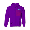 Movie Purple Zip Up Hoodie