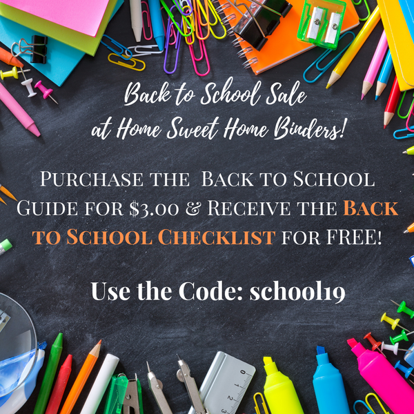 Purchase Your Back to School Guide and Get a Back to School Supply List for FREE! Use the Code: school19