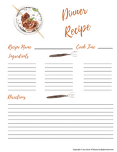 Load image into Gallery viewer, Printable Dinner Recipe Cards for Moms