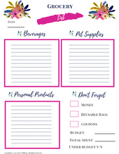 Load image into Gallery viewer, Grocery Haul Printable for Busy Moms and Homemakers