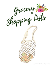 Load image into Gallery viewer, Grocery Shopping List Printables for Busy Moms and Homemakers
