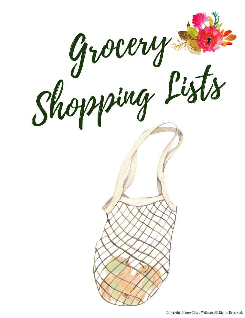 Grocery Shopping List Divider Orange Blossom Collection