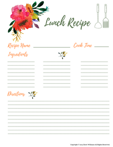 Lunch Recipe Cards for Moms