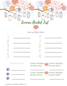 Summer Bucket List Mason Jar Version