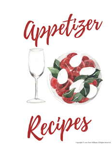 Appetizer Recipe Card Divider