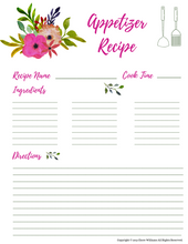 Load image into Gallery viewer, Hardy Copy Binder for the Home Kitchen Binder: 96 Printables!