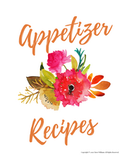 Load image into Gallery viewer, Appetizer Recipe Card Dividers for Kitchen Binders