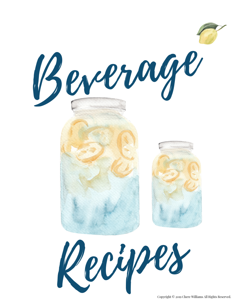 Beverage Recipe Printable for Moms