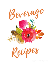 Load image into Gallery viewer, Beverage Recipe Card Dividers for Kitchen Binder