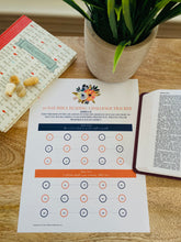Load image into Gallery viewer, 30 Day Bible Challenge Tracker Printable