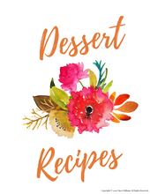 Load image into Gallery viewer, Dessert Recipe Card Divider Printable for Moms