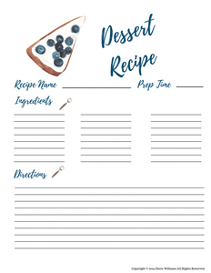 Printable Dessert Recipe Cards for Moms