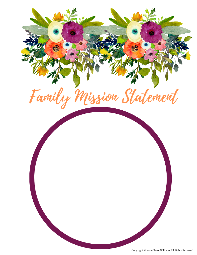 Create a Family Mission Statement Printable