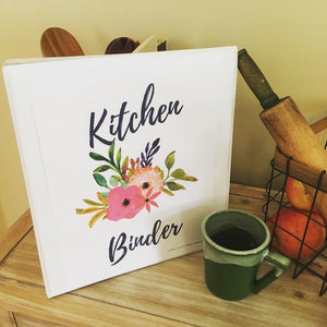 Hard Copy Kitchen Binder Printables For Moms