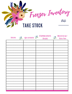 Kitchen Inventory Printable for Busy Moms and Homemakers