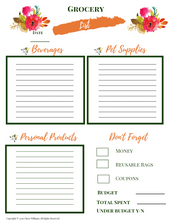 Load image into Gallery viewer, Grocery List Printable PDFs for Moms
