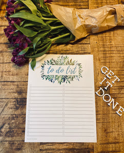 To Do List; Green Life Collection