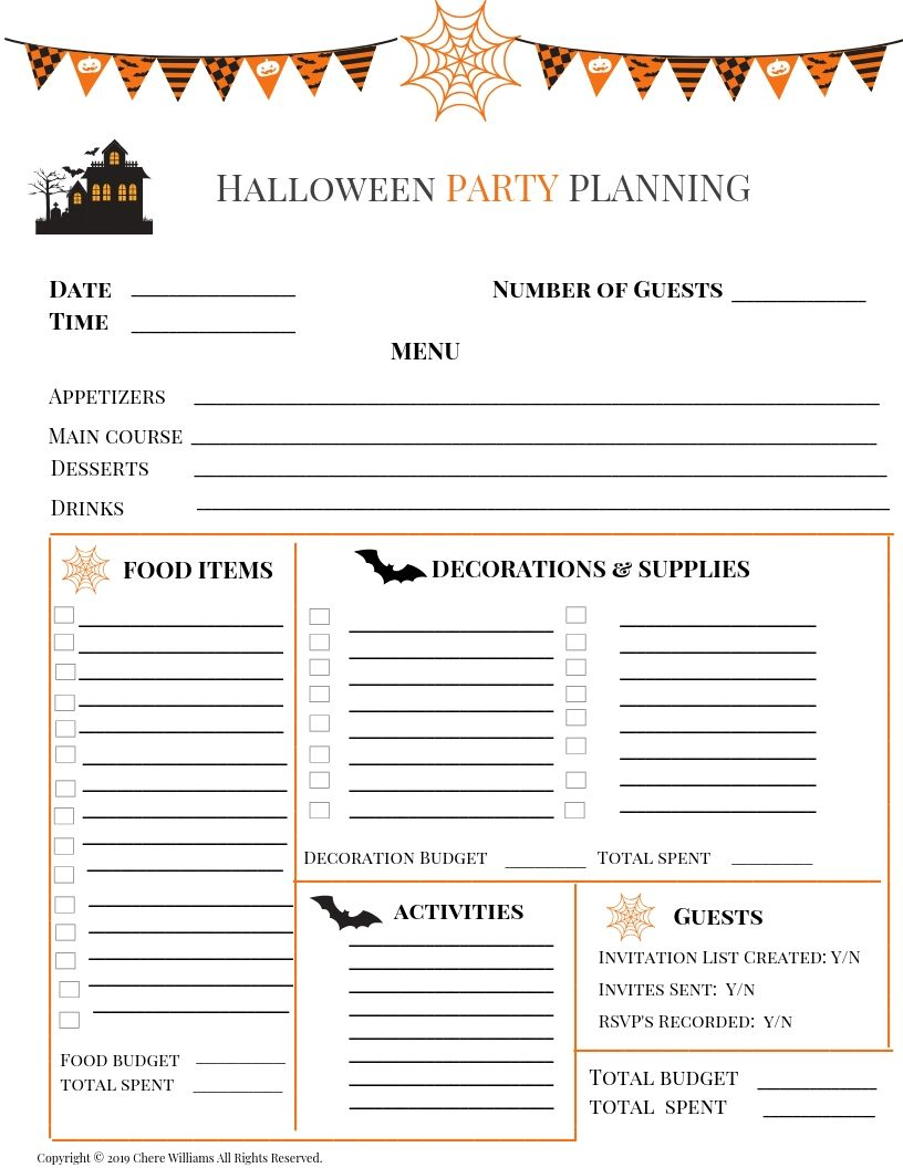 Halloween Party Planner
