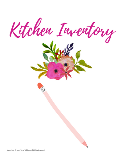 Kitchen Inventory Divider Floral Collection