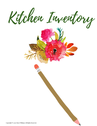 Kitchen Inventory Divider Orange Blossom Collection