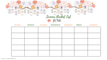 Load image into Gallery viewer, Summer Bucket Monthly Calendar List Mason Jar Version
