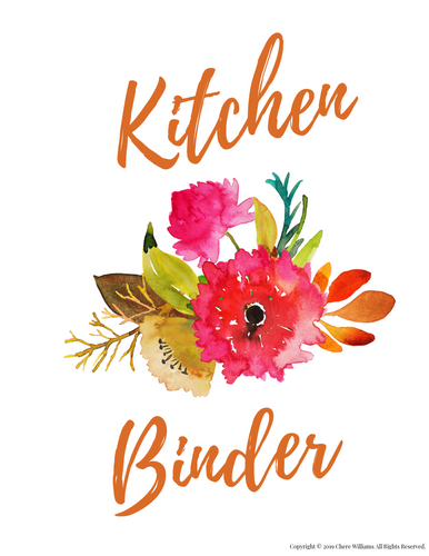 Orange Blossom Kitchen Binder Cover