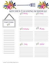 Load image into Gallery viewer, Kitchen Cleaning Schedule Printables for Busy Moms and Homemakers