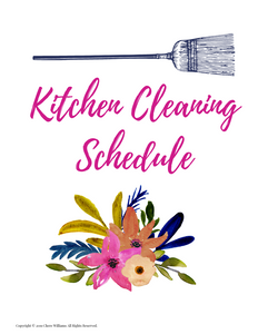 Kitchen Cleaning Schedule Printables for Busy Moms and Homemakers