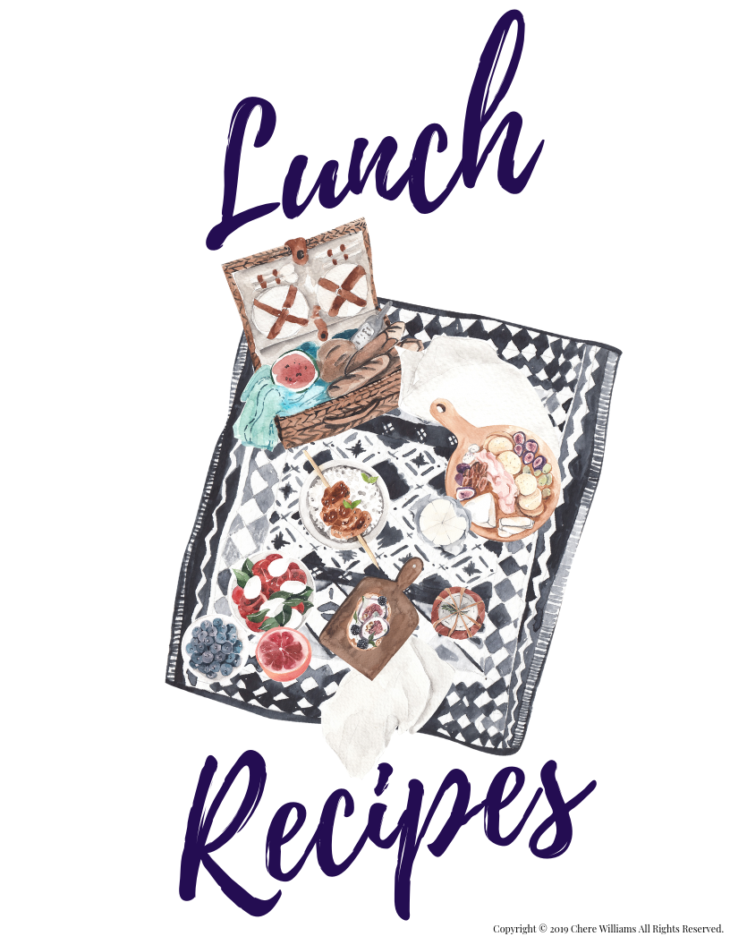 Lunch Recipe Divider for Lunch Card Recipes