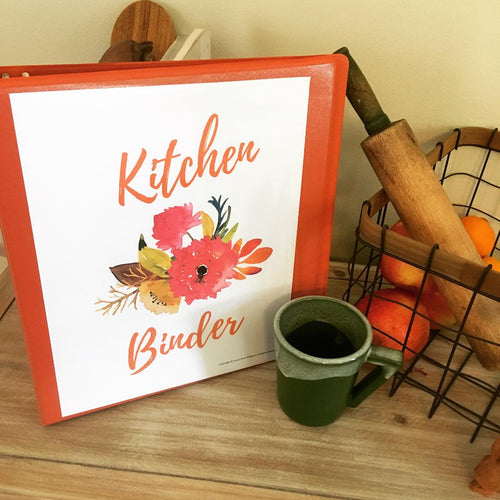 Hard Copy Kitchen Binder: Complete Orange Blossom Collection: 29 Printables