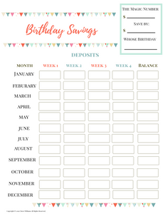 Complete Savings Binder Printable (Digital Download)