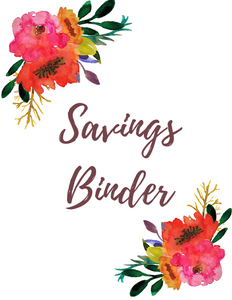 Hard Copy! Complete Savings Tracking Binder