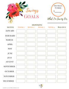 Savings Goals Tracker