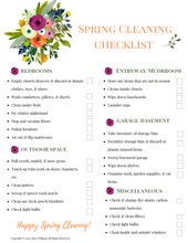 Load image into Gallery viewer, Spring Cleaning Checklist Printable