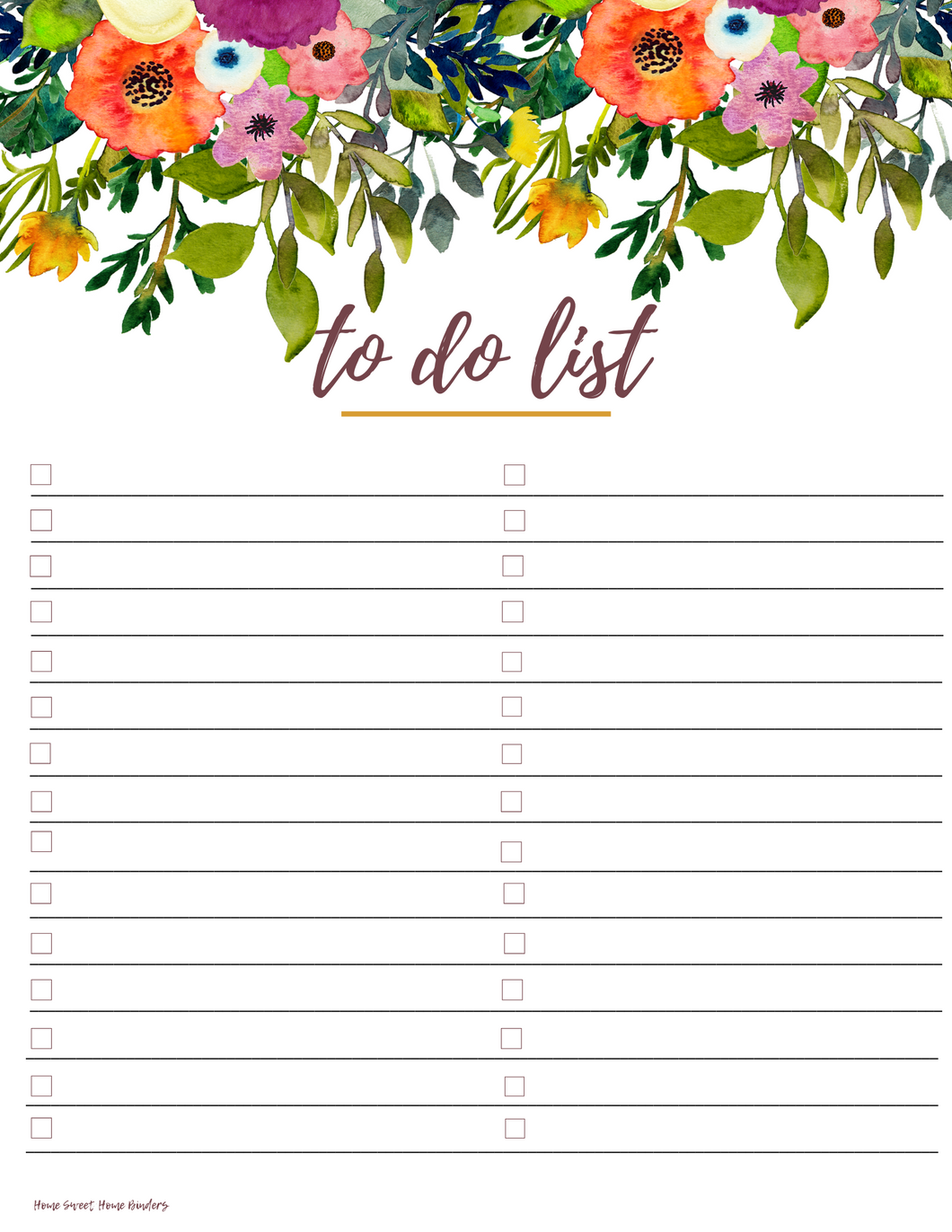 To Do List: Falling Blossoms Collection
