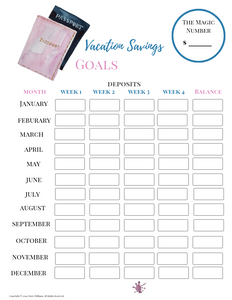 Vacation Savings Goal Tracker