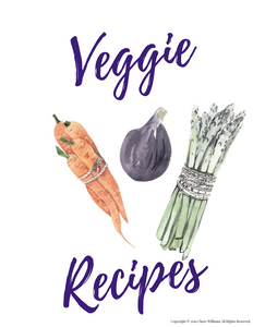 Printable Veggie Recipe Cards for Moms