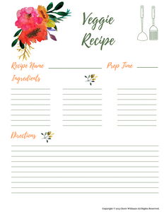 Veggie Recipe Card