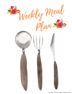 Weekly Meal Planner Printable for Moms