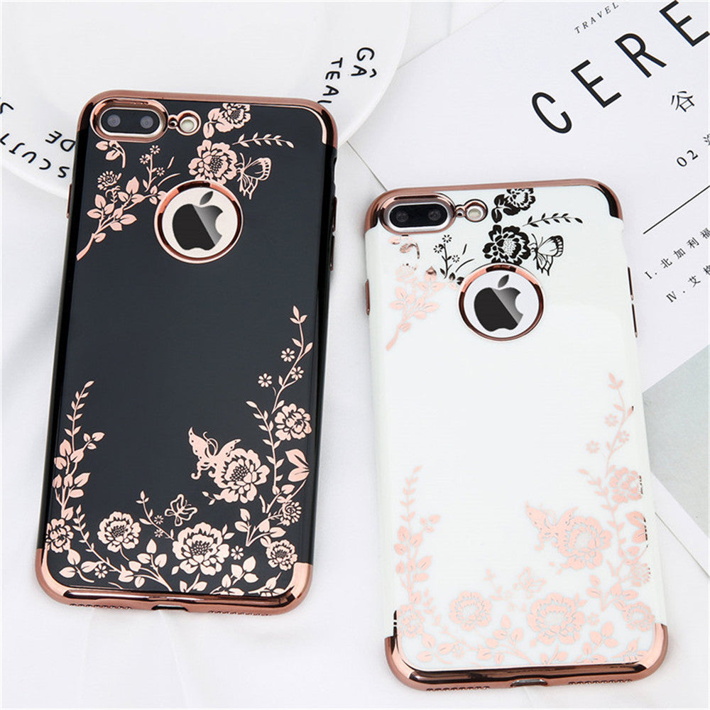 Rose Gold Flower iPhone Case - BohoSparkle.com