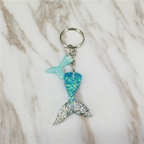 Sirena Mermaid Tail Keychain Assorted Colors - BohoSparkle.com