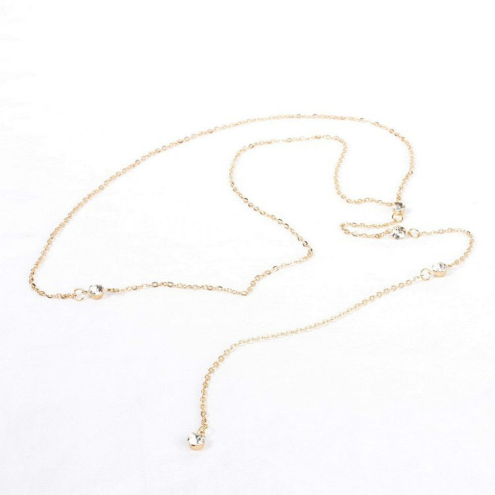 Gaia Back Necklace Gold - BohoSparkle.com