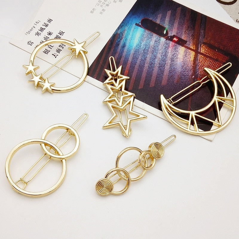 Goldie Assorted Hair Clips - BohoSparkle.com