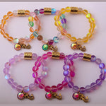 Lyra Beaded Charm Bracelet Assorted Colors - BohoSparkle.com