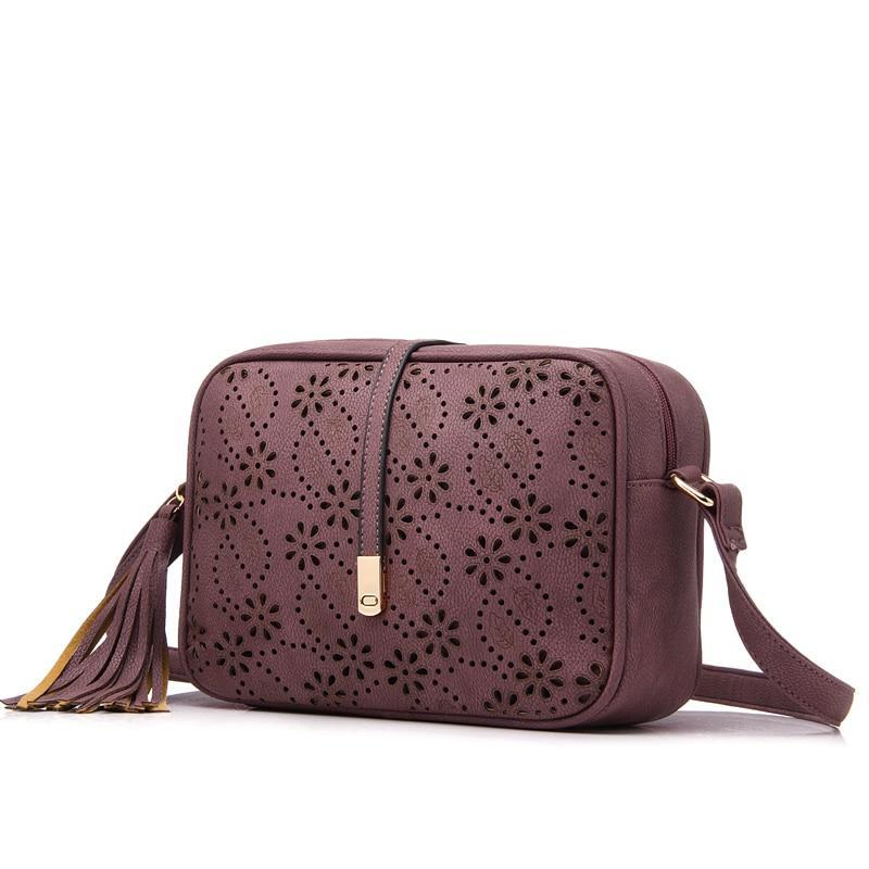 Vegan Leather Crossbody Purse Assorted Colors - BohoSparkle.com