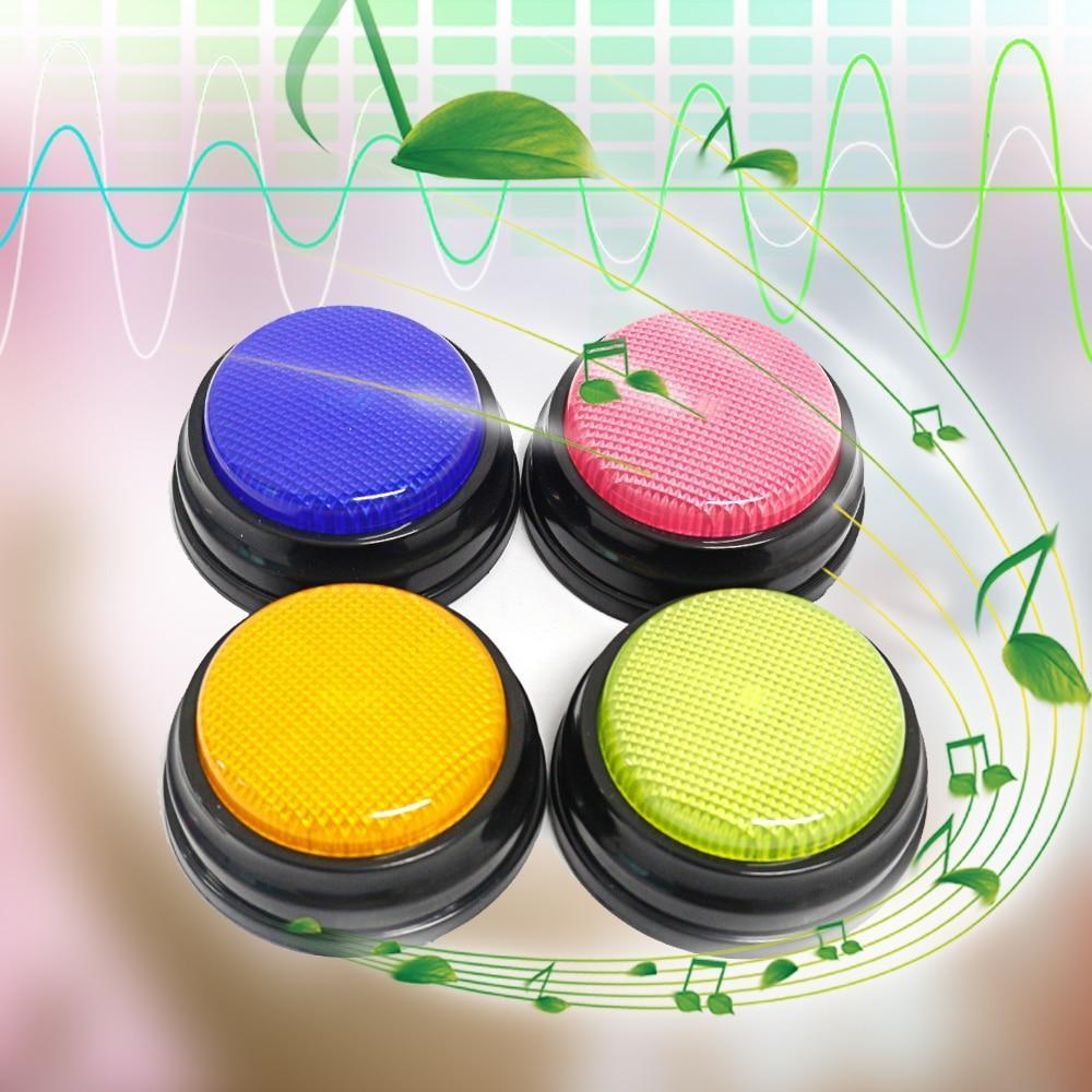 4 Pack Retekess TM101 Answer Buzzers Lights and Sounds Buzzers Game Show Classroom Buzzers Wireless Respond Button for Kid Adult Office Debates