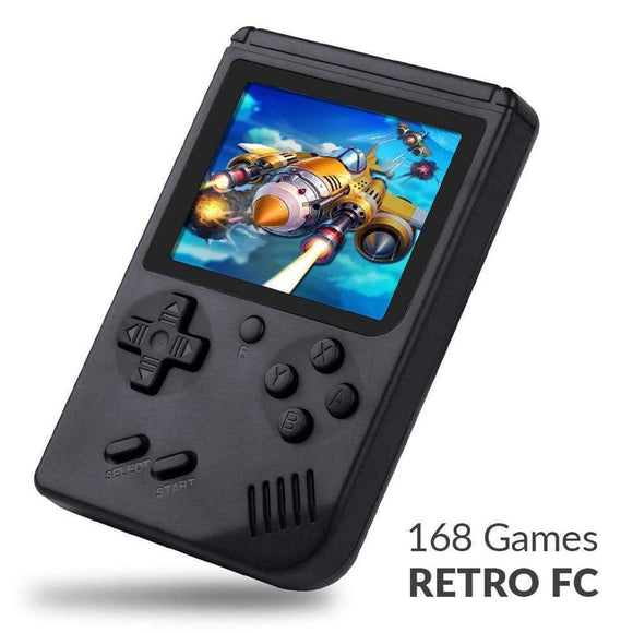 Tryot 168 Games MINI Portable Retro Video Console Handheld Game Advance Players Boy 8 Bit Built-in Gameboy 3.0 Inch Color LCD Screen